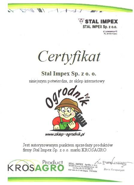 certyfikat dystrybutora krosagro