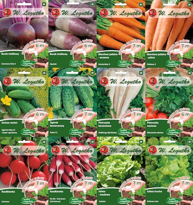Zestaw Nasion Na Tasmie Warzywa Pakiet S W Legutko